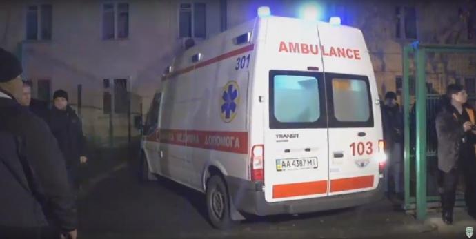 Корбана увезли в больницу