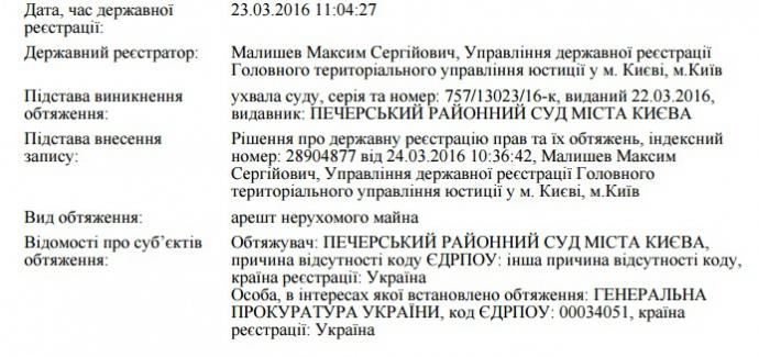 Квартиру Касько арестовали