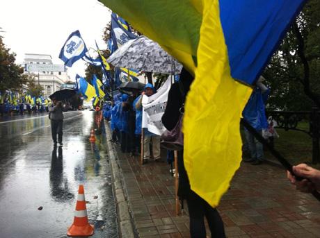 Мітинг Партії регіонів. Фото Тетяни Ніколаєнко