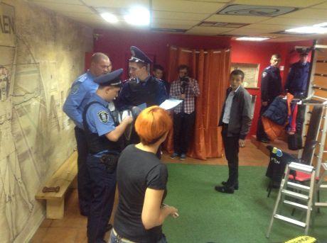 Милиция заблокировала офис Femen. Фото пресс-службы движения