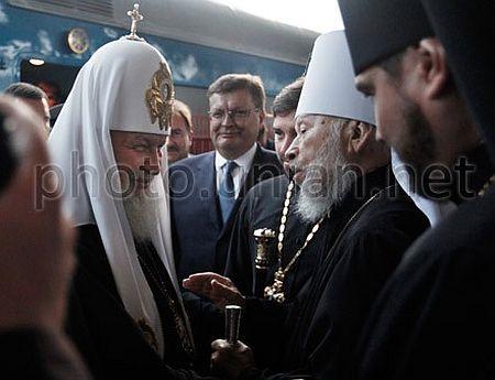 Голова РПЦ Кирило та голова УПЦ МП Володимир