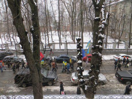 Митинг под МВД. Фото Украинской правды