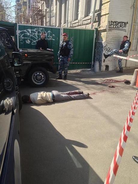 Человека застрелили на Саксаганского