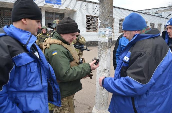представники СММ ОБСЄ і української сторони СЦКК