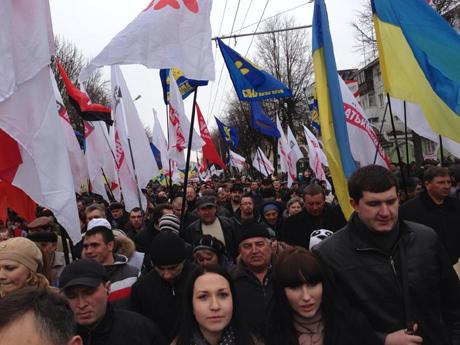 Вставай, Украино в Луцке