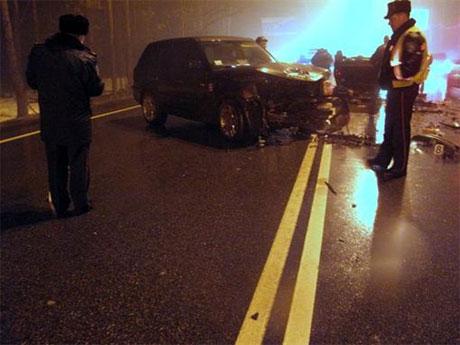 Дружина Сергія Реброва потрапила в аварію