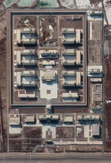 Супутникові знімки нового об'єкту поблизу Кашгара в січні 2020 року/ASPI