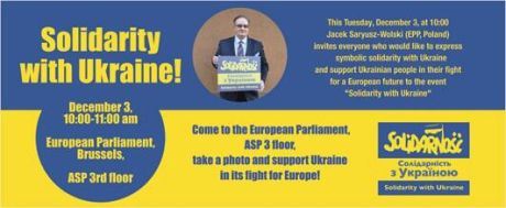 Solidarity with Ukraine in the European Parliament.