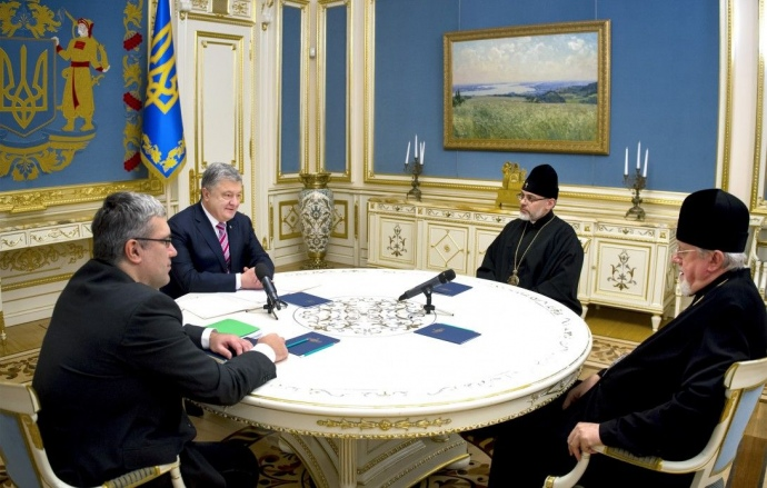 Порошенко принял епископов Украинской православной церкви в США