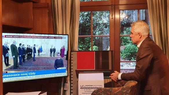 Іван Корчок дивився церемонію призначення уряду по телевізору