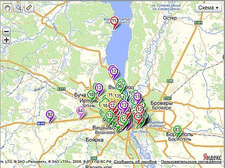 Карта помощи Киева