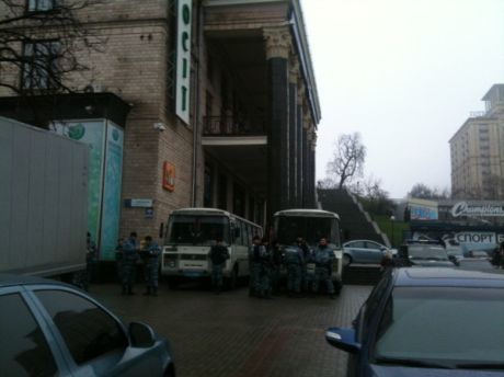На Майдане полно Беркута. Фото Оксаны Коваленко