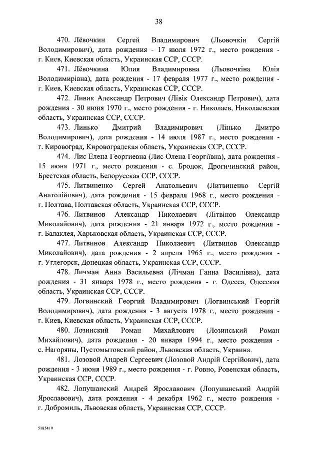 Страница из постановления правительства РФ