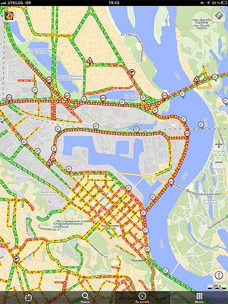 В связи с аварией в районе Московского моста наблюдались сильные пробки. Фото