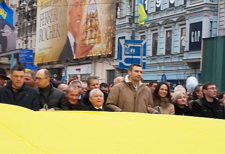 Лидеры оппозици пришли на виче. Фото Валерии Ивашкиной