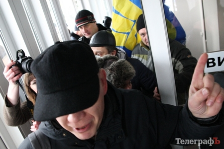 С митингующими в Кременчуге были также народные депутаты