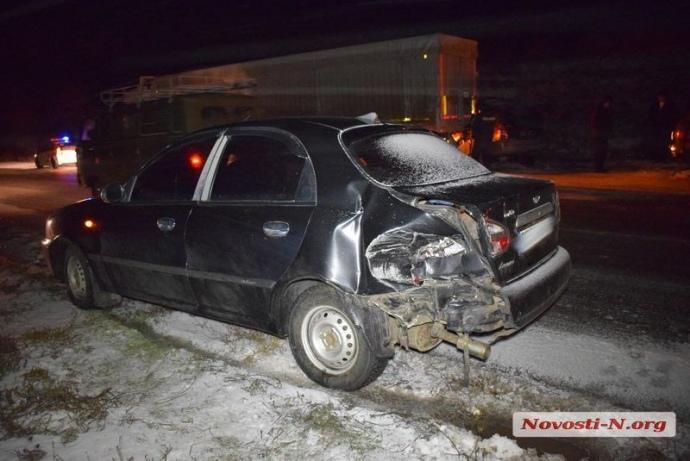 Вторая машина пострадала меньше