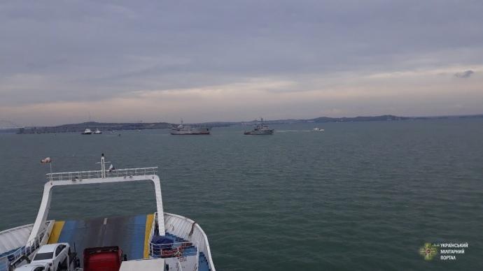 Українські військові кораблі увійшли до Азовського моря