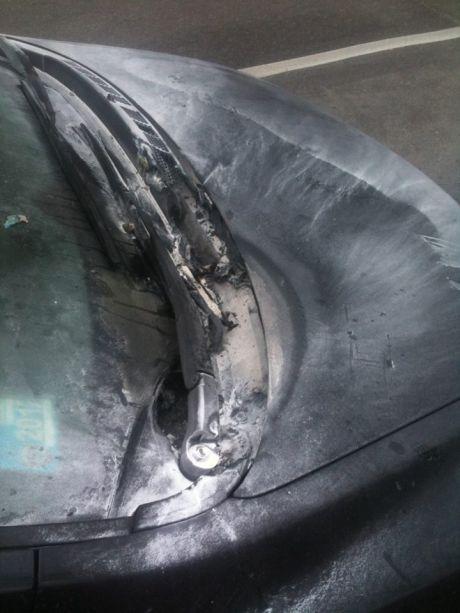 Підпалене авто активістки Євромайдану
