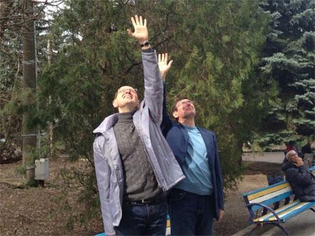 Луценко и Яценюк машут руками Тимошенко. Фото пресс-службы Батькивщины