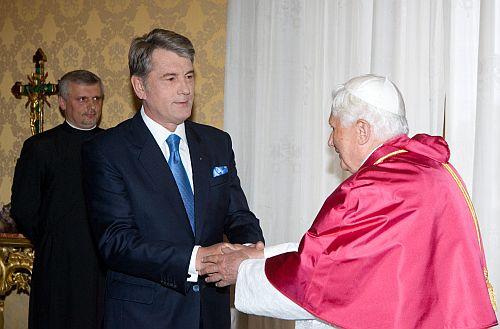 Ющенко з Папою. Фото Михайла Марківа