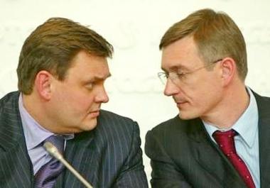 Пальчикив и Чуйченко перед пресс-конференцией. Фото Reuters