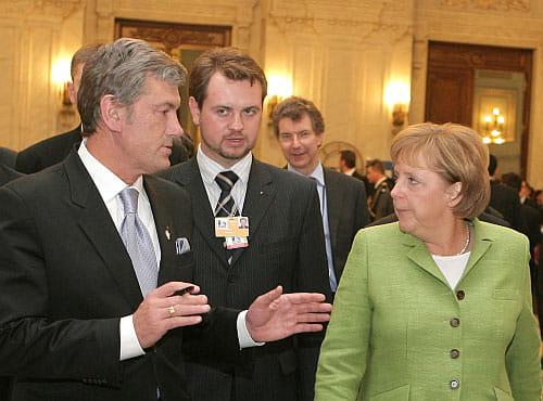 Ющенко в Бухаресте поговорил с Бушем, Меркель и Саркози   Украинская правда